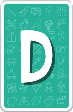 Carte Lettre D