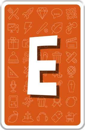 Carte Lettre E