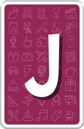 Carte Lettre J