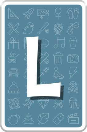 Carte lettre L