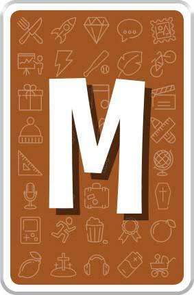 Carte Lettre M
