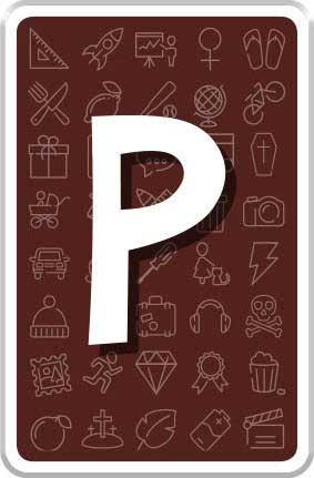 Carte lettre P