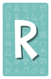 Carte lettre R
