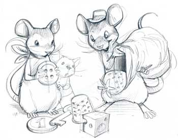 The first sketches - Peek-a-mouse