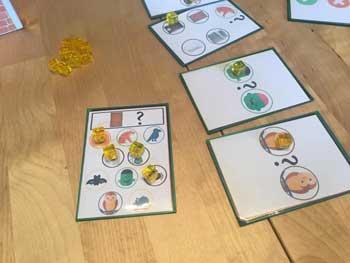 Les cartes Question qui seront remplacées par les plateaux - La maison des souris