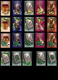 Recherches des variantes / bonus de carte - Quetzal
